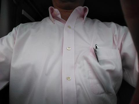 水浸しのワイシャツ